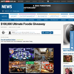 Win $100,000 in food and restaurant prizes
