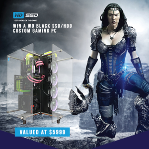 Win a WD Black SSD/HDD Custom Gaming PC