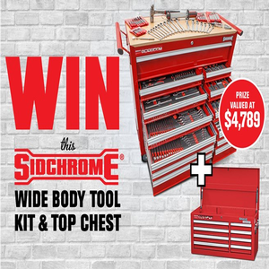Win a Sidchrome Wide Body Tool Chest & Top Chest