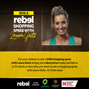 Win a shopping spree at Rebel store in Brisbane with Laura Geitz