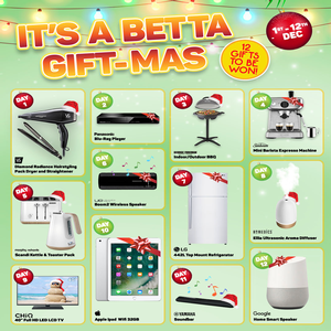 Win 1 of 12 Prizes from Betta's 12 Days of Christmas Giveaway