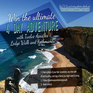 Win the ultimate 4-day getaway with Twelve Apostles Lodge Walk inclusive of all meals, accommodation, helicopter ride, and a fully guided walking experience. 2 prizes plus Kathmandu giveaways.