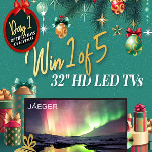 """Win 1 of 5 Jaeger 32"""" HD LED TVs with Built-In DVD Player"""