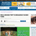 WIn a Trip to Broadway