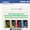 Win $1,000 worth of Black Widow sports nutrition!