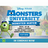 Win 1 of 20 family passes to see Disney Pixar's Monsters University!