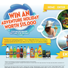 Win 1 of 3 adventure holidays + $50 grocery gift cards to be won daily!