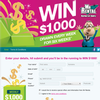 Win 1 of 6 $1,000 cash prizes!