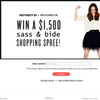 Win a $1,500 Sass & Bide shopping spree!