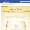 Win a $300 Gourmet Picnic at our Picturesque Adelaide Hills Vineyard