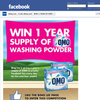 Win a year's supply of OMO washing powder!