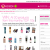 Win all 20 products from Priceline's top 10s this month!