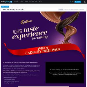 Win 1 of 1,000 Cadbury chocolate prizes!