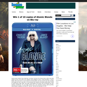 Win 1 of 10 copies of Atomic Blonde on Blu-ray