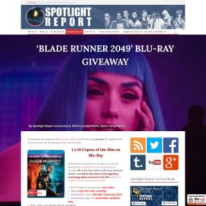Win 1 of 10 Copies of Blade Runner 2049 on blu-ray