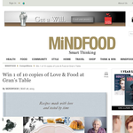 Win 1 of 10 copies of Love & Food at Gran's Table