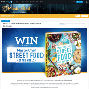 Win 1 of 10 copies of 'Masterchef Street Food of the World'!
