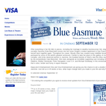 Win 1 of 10 double passes to see 'Blue Jasmine'! (VISA Customers Only)