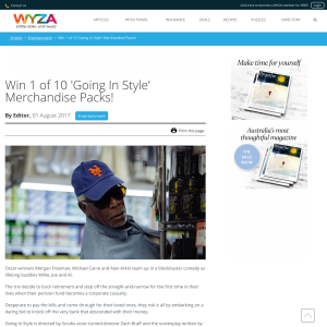 Win 1 of 10 'Going In Style' Merchandise Packs