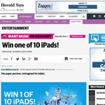 Win 1 of 10 iPads!