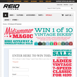 Win 1 of 10 ladies vintage 7-speed classic bikes!