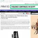 Win 1 of 10 Max Factor mascara & eyeliner packs!