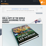 Win 1 of 10 signed copies of 'The World (Game) According to Les Murray'!