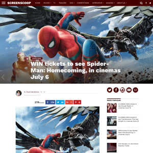Win 1 of 10 Spider-man: Homecoming double passes