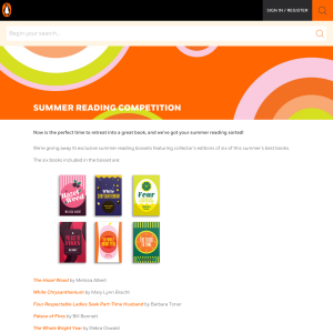 Win 1 of 10 summer book packs