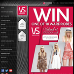 Win 1 of 10 wardrobes valued at $1,000 each!
