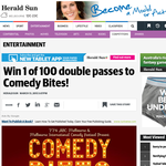 Win 1 of 100 double passes to Comedy Bites!