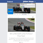Win 1 of 100 Microsoft Lumia 'Formula 1' prize packs!