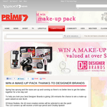 Win 1 of 150 'Designer Brands' make-up packs!