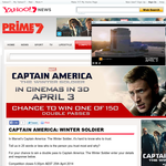 Win 1 of 150 double movie passes to see 'Captain America: Winter Soldier'!
