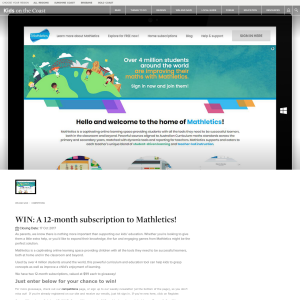 Win 1 of 2 12 Months Mathletic Subscriptions