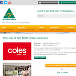 Win 1 of 2 $500 'Coles' gift cards!