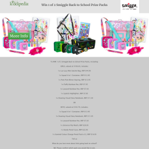 Win 1 of 2 Back to School smiggles Packs