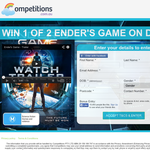 Win 1 of 2 Copies of Ender's game on DVD