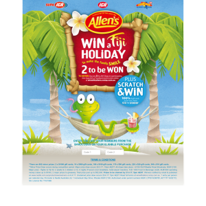 Win 1 of 2 Fiji family holidays + Eftpos vouchers to be won! (Purchase Required)