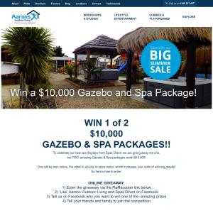 Win 1 of 2 Gazebo & Spa Packages