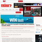 Win 1 of 2 Pacific Islands Cruises with Carnival Cruise Lines!