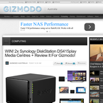 Win 1 of 2 Synology DiskStation DS415play Media Centres + Review It For Gizmodo!