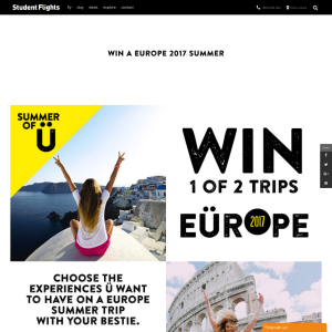 Win 1 of 2 trips to Europe!