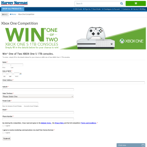 Win 1 of 2 XBox One S 1TB consoles