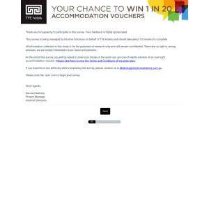 Win 1 of 20 accommodation vouchers