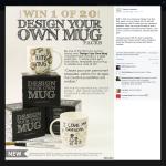 Win 1 of 20 'Design Your Own Mug' packs!