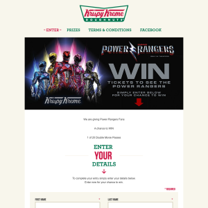 Win 1 of 20 double movie passes to see the new 'Power Rangers' movie! (SA Residents ONLY)