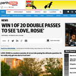 Win 1 of 20 double passes to see Love, Rosie