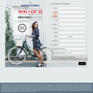 Win 1 of 25 his or hers 'Birichino' bicycles! (Purchase Required)