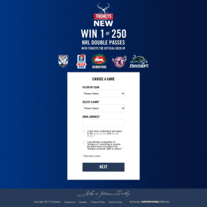 Win 1 of 250 NRL double passes! (NSW Residents ONLY)